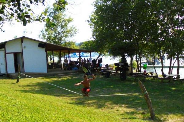 Le Slackline du Water Park de Sames